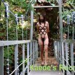 【ひとずま熟女素人動画】四十路でド変態の素人妻がボンテージ衣装で過激な露出散歩w