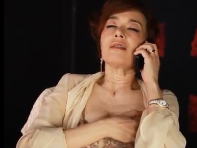 【ひとずま熟女オナニー動画】マダムな社長秘書がテレフォンセックスで手淫した後に社長と性行為w
