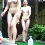 【ひとずま熟女盗撮動画】露天風呂で素人の30代を中心に貧乳で華奢な裸体を隠し撮りw